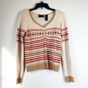 🌻 3/$20 Axcess Liz Claiborne Fall V neck Sweater